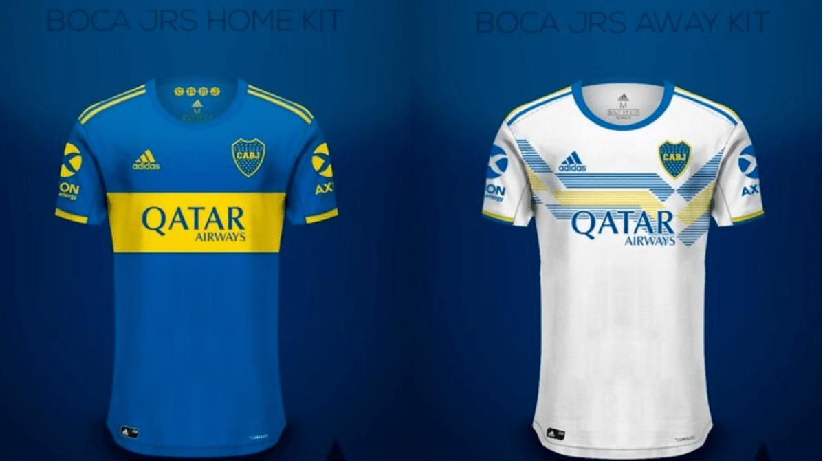 Así serían las camisetas de Boca en 2020 tras el cambio de marca de indumentaria.