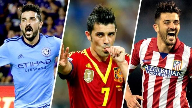 El goledor español, David Villa, anuncia su retiro del fútbol a los 37 años.