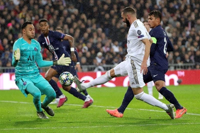 Real Madrid cedió un empate contra el PSG luego de ir ganando por dos goles.