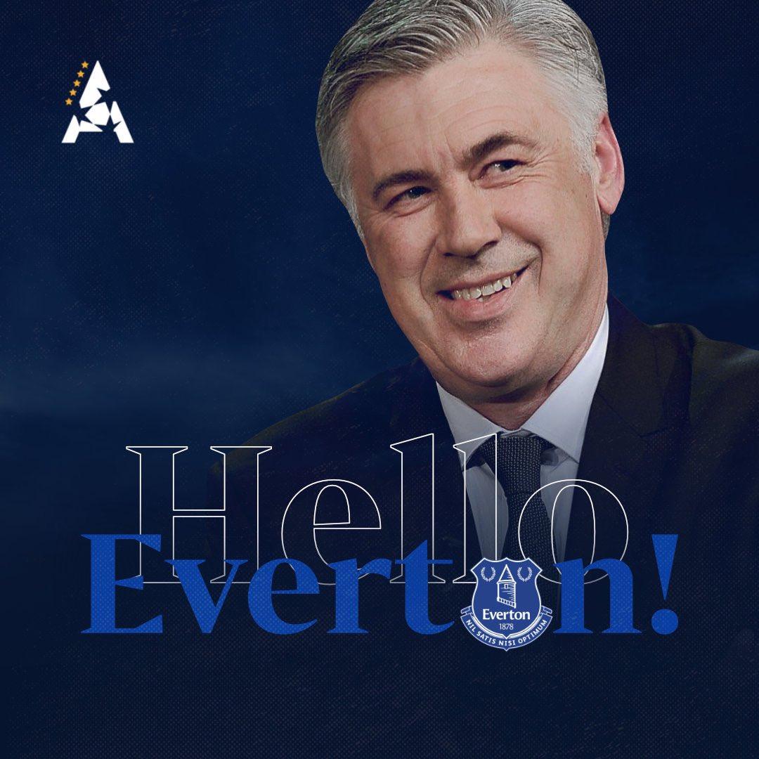 Carlo Antecelotti es el nuevo técnico del Everton por 4 temporadas.