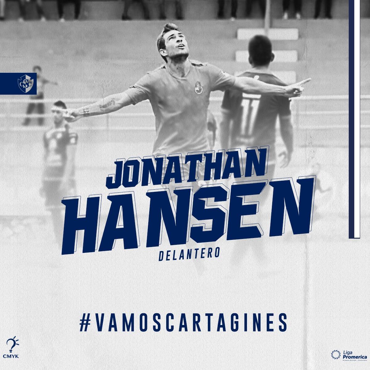 El delantero Jonathan Hansen se incorpora como nuevo refuerzo del Cartaginés.