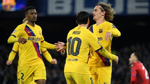 Barcelona y el Napoli empataron en un duelo cargado de fricción.