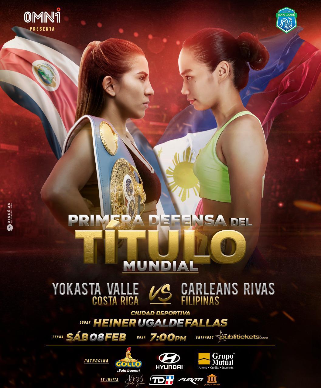 Filipina promete noquear a Yokasta Valle en el sexto asalto.