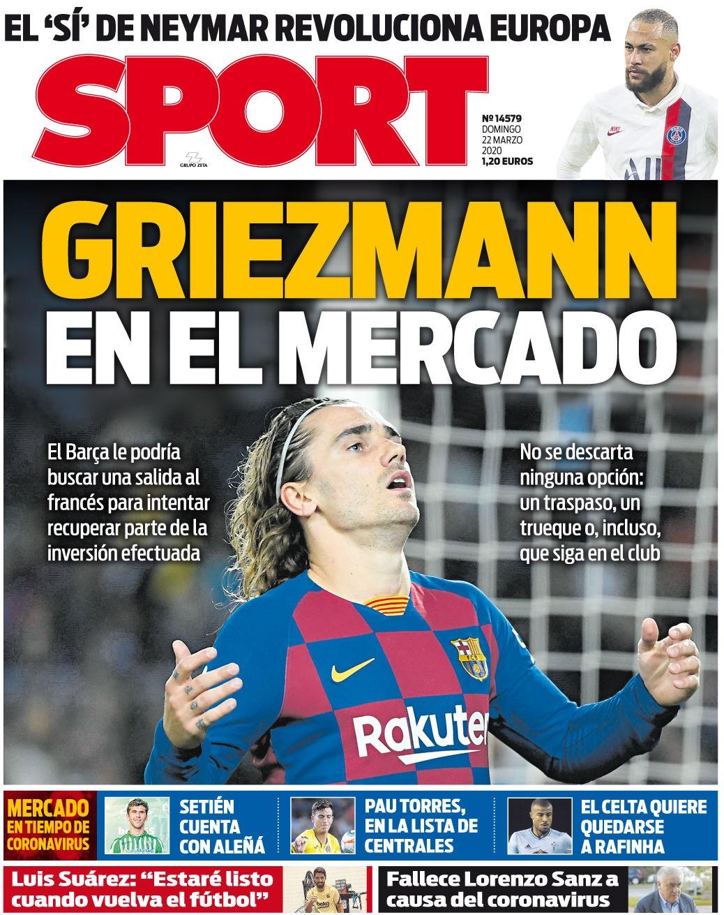 """Antoine Griezmann, podría convertirse en """"moneda de cambio"""" en el Barcelona."""