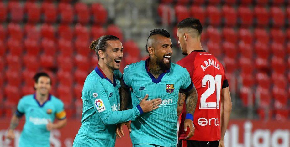 Barcelona goleó al Mallorca en su regreso a la Liga Española.
