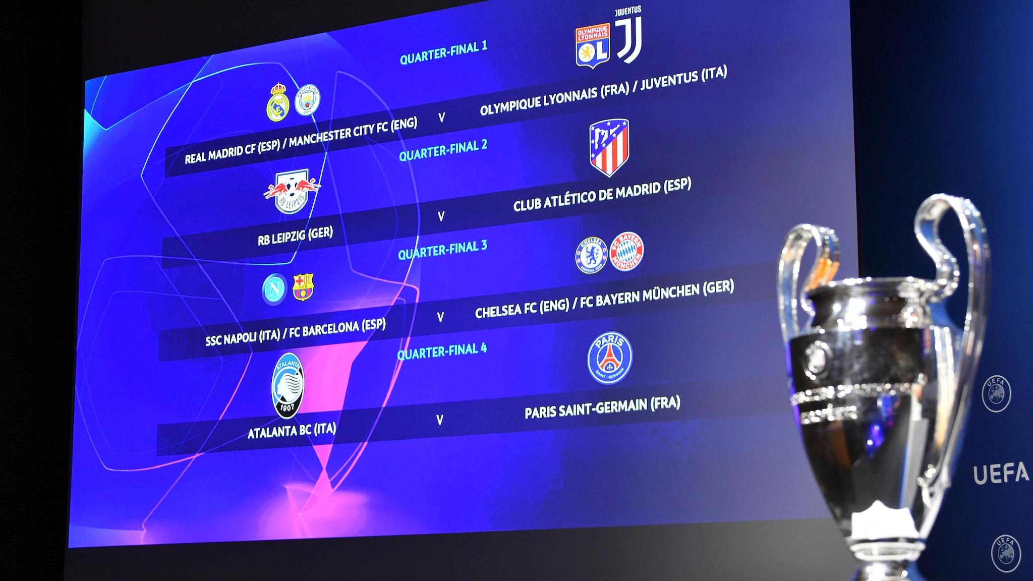 Sorteados los cuartos de final y las semifinales de la Champions League.
