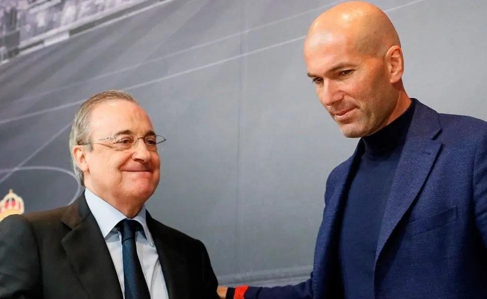 """Florentino Pérez: """"Zidane es una bendición del Cielo""""."""