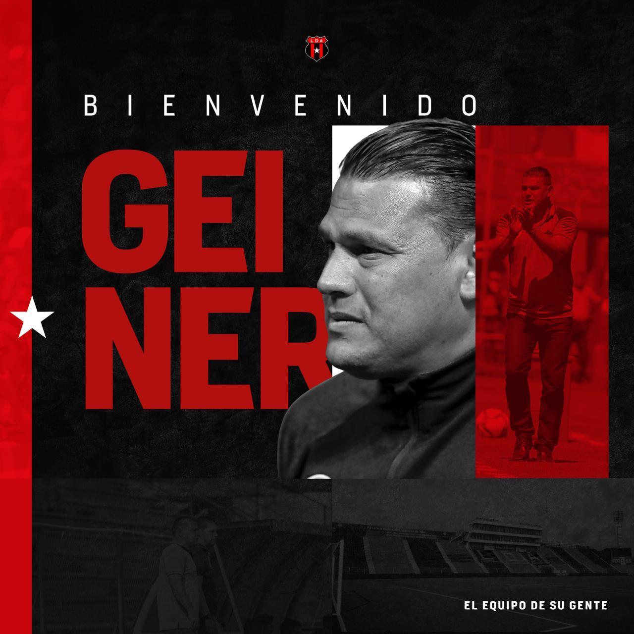 Alajuelense contrató a Geiner Segura como asistente de Carevic para el Apertura 2020.