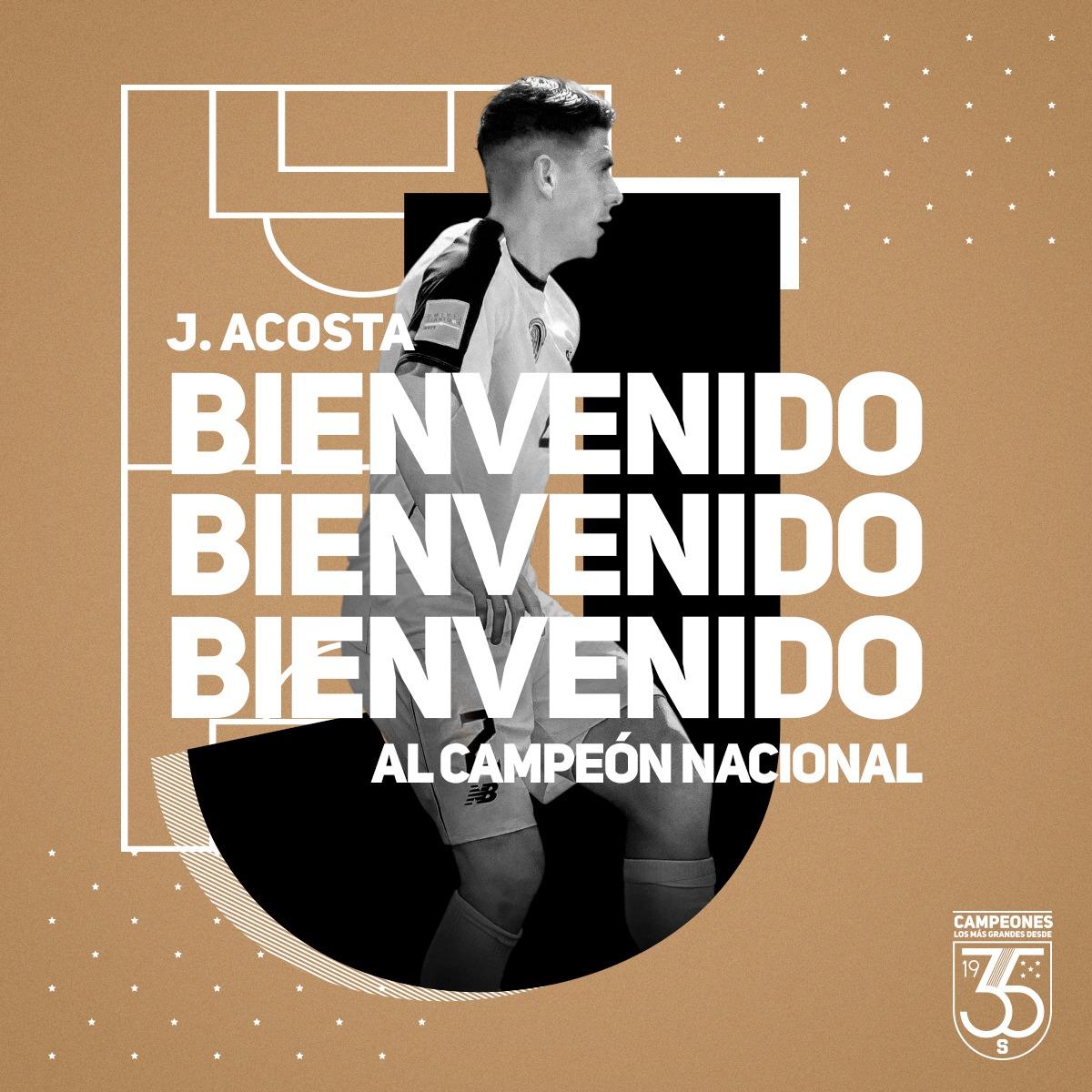 Johnny Acosta fue anunciado como nuevo refuerzo del Saprissa para el Torneo Apertura 2020.