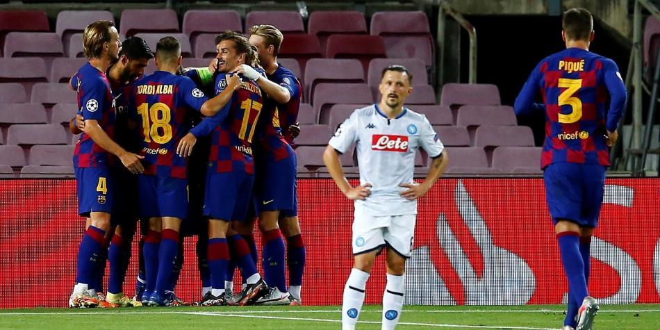 Barcelona se metió en los cuartos de final de la Champions League tras victoria ante Napoli.