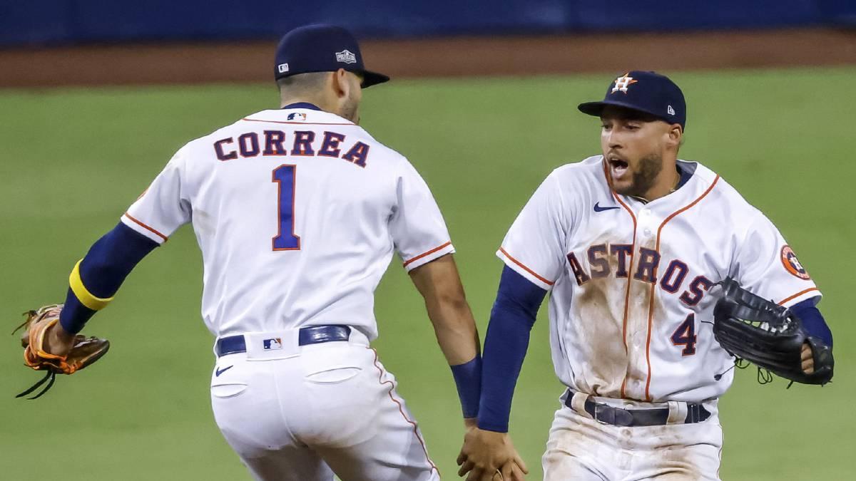 Astros superan a los Rays de Tampa y evitan la barrida en la serie de campeonato de la Liga Americana.