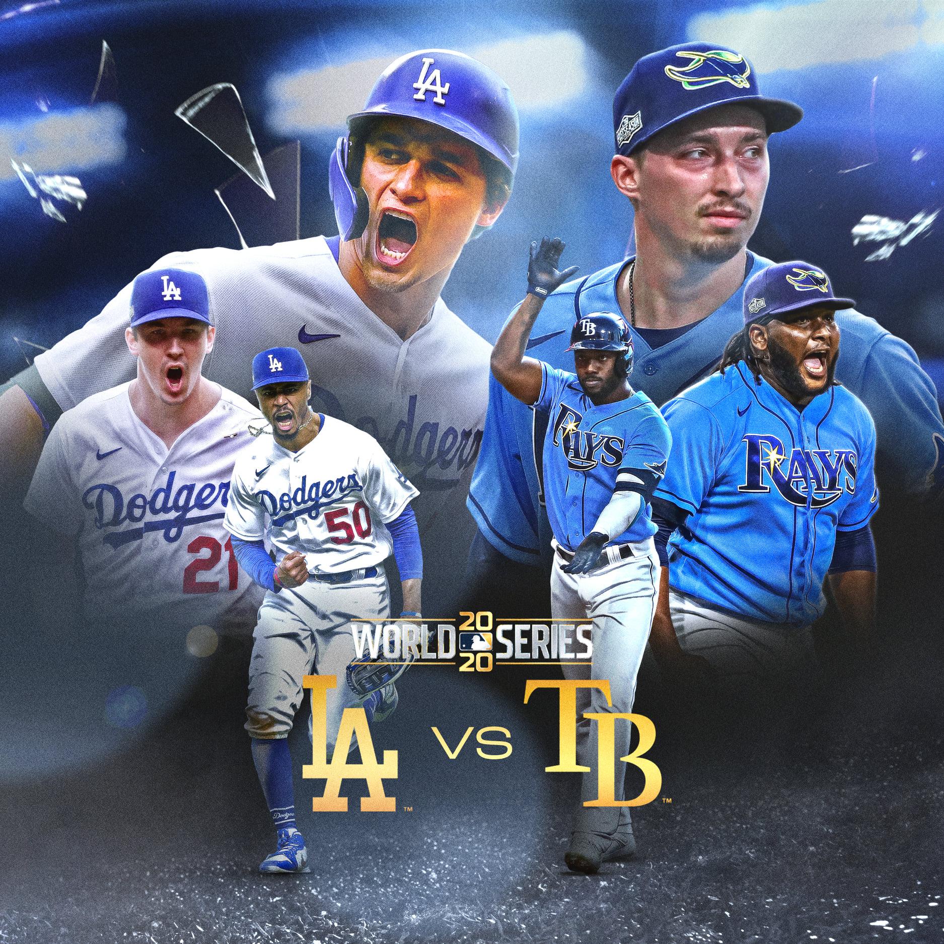 Rays de Tampa y los Dodgers de los Ángeles chocarán en la Serie Mundial.
