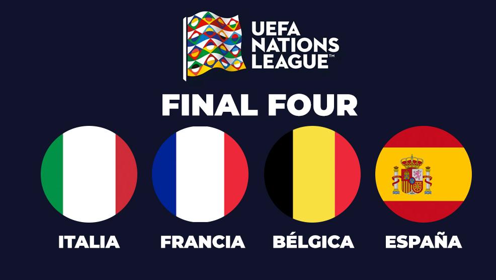 Italia, Bélgica, Francia y España clasificaron a la Final Four de la UEFA Nations League.