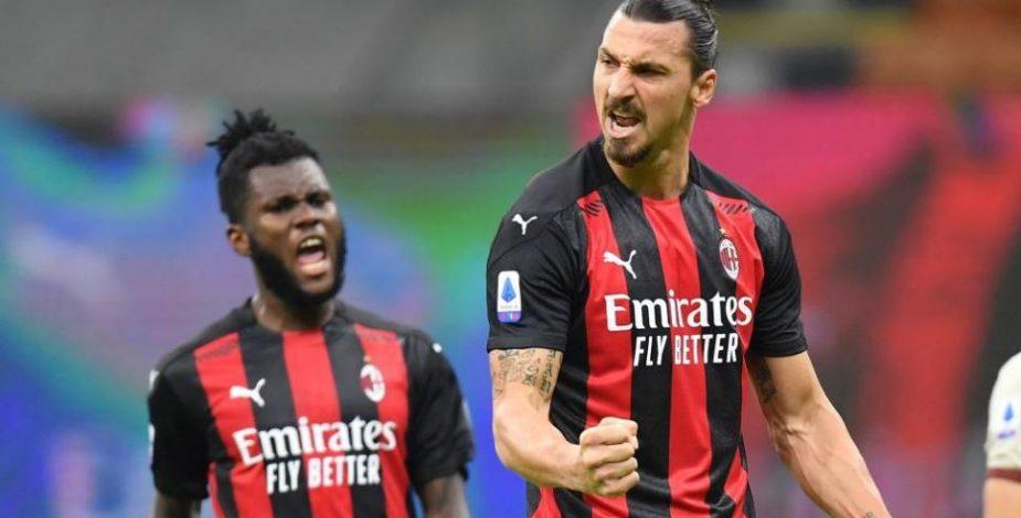 Zlatan Ibrahimovic le dio el triunfo al Milan en la Serie A de Italia con un golazo de chilena.