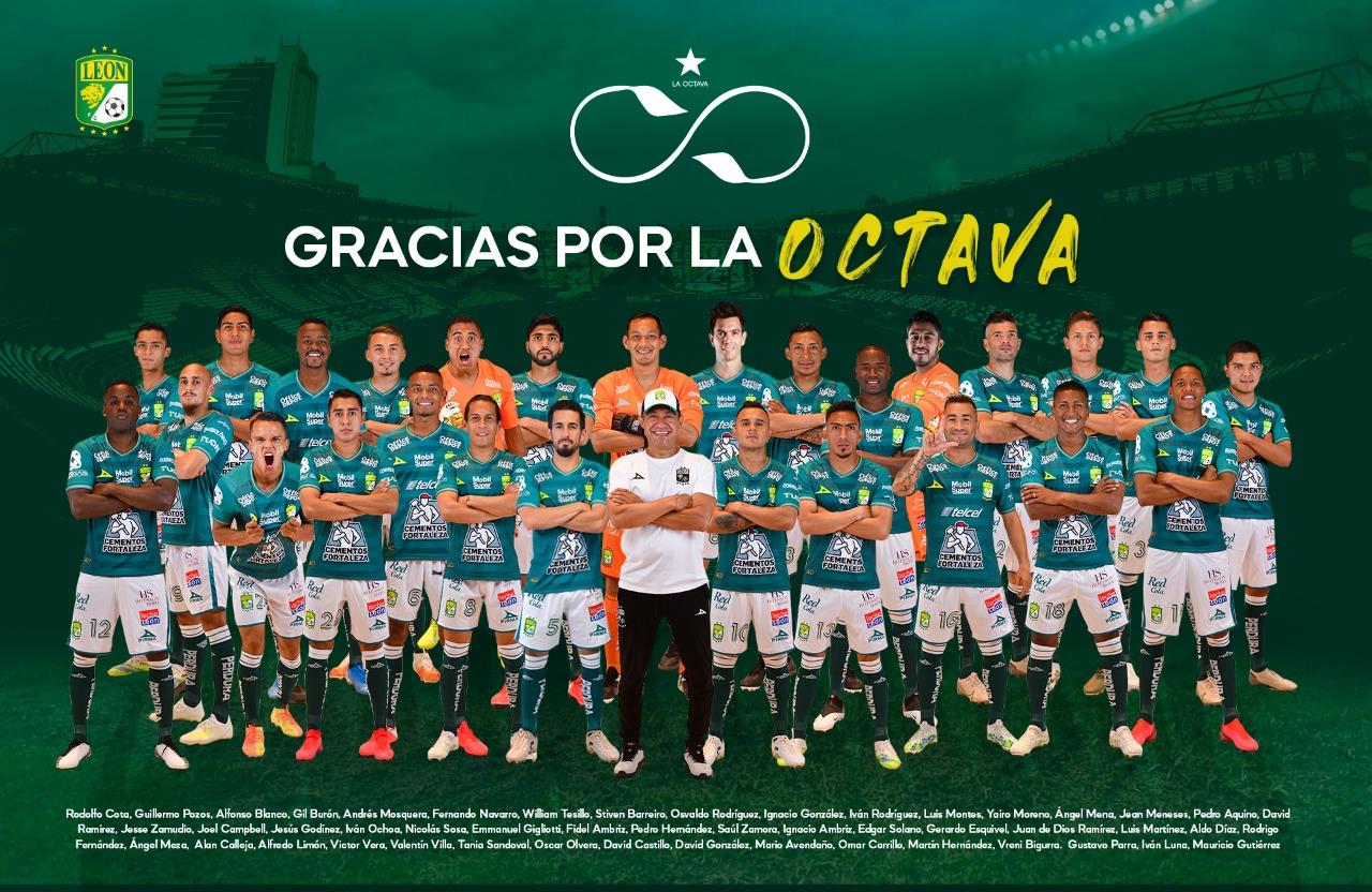 ¡Llegó la octava! El León se coronó campeón de la Liga MX.