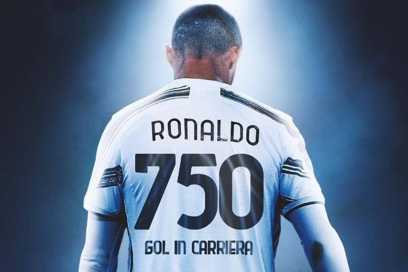 Cristiano Ronaldo llegó a 750 goles en su carrera y está muy cerca de Pelé.