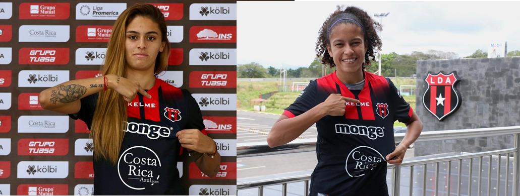 Alajuelense contrata a dos jóvenes pero experimentadas futbolistas para reforzar su equipo femenino.