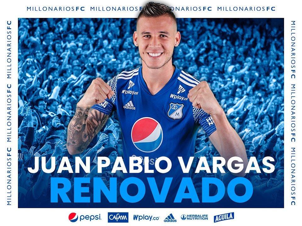 Millonarios de Colombia ejerció la opción de compra por el tico Juan Pablo Vargas.