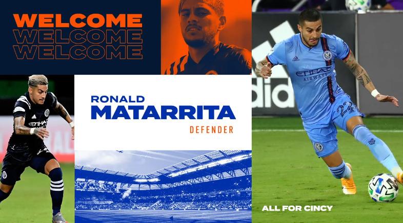 Ronald Matarrita dejó el New York City para irse al FC Cincinnati.