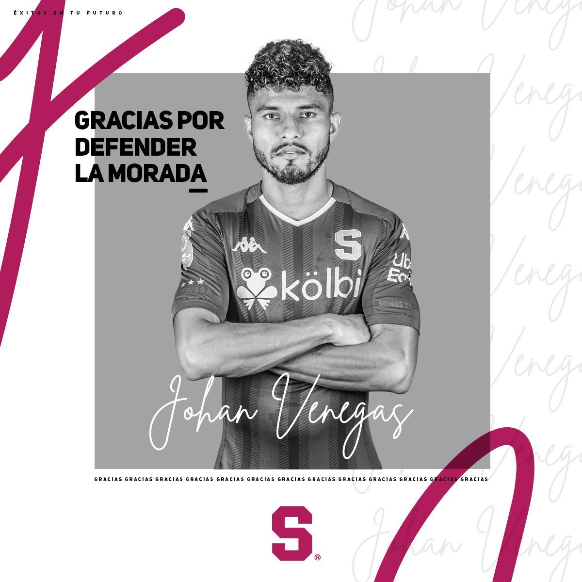 Saprissa oficializa la salida del su goleador Johan Venegas.