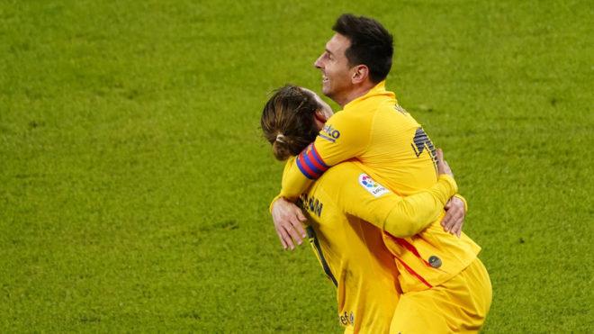 Barcelona vence al Athletic de Bilbao y Messi vuelve a sonreír.