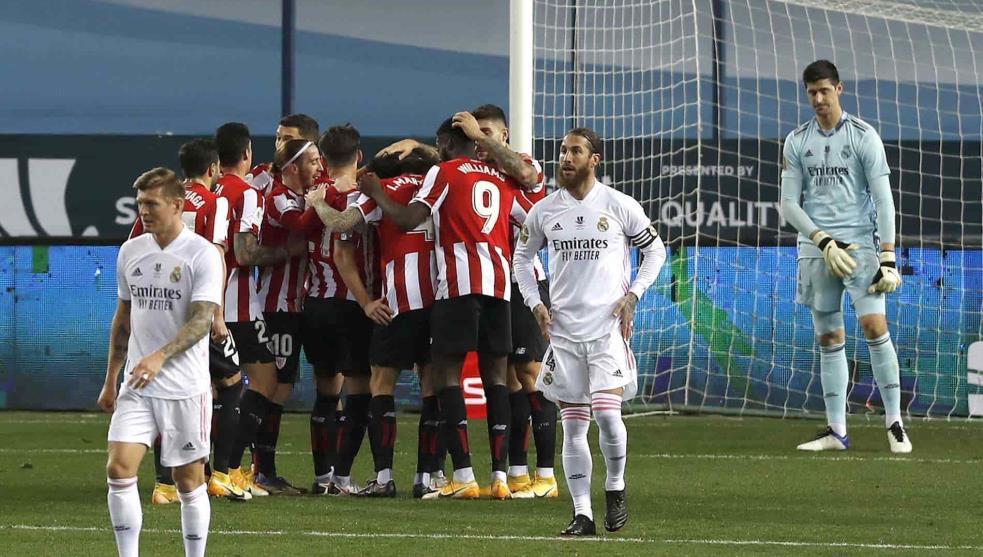 Athletic de Bilbao eliminó al Real Madrid de la Supercopa de España y avanzó a la final.