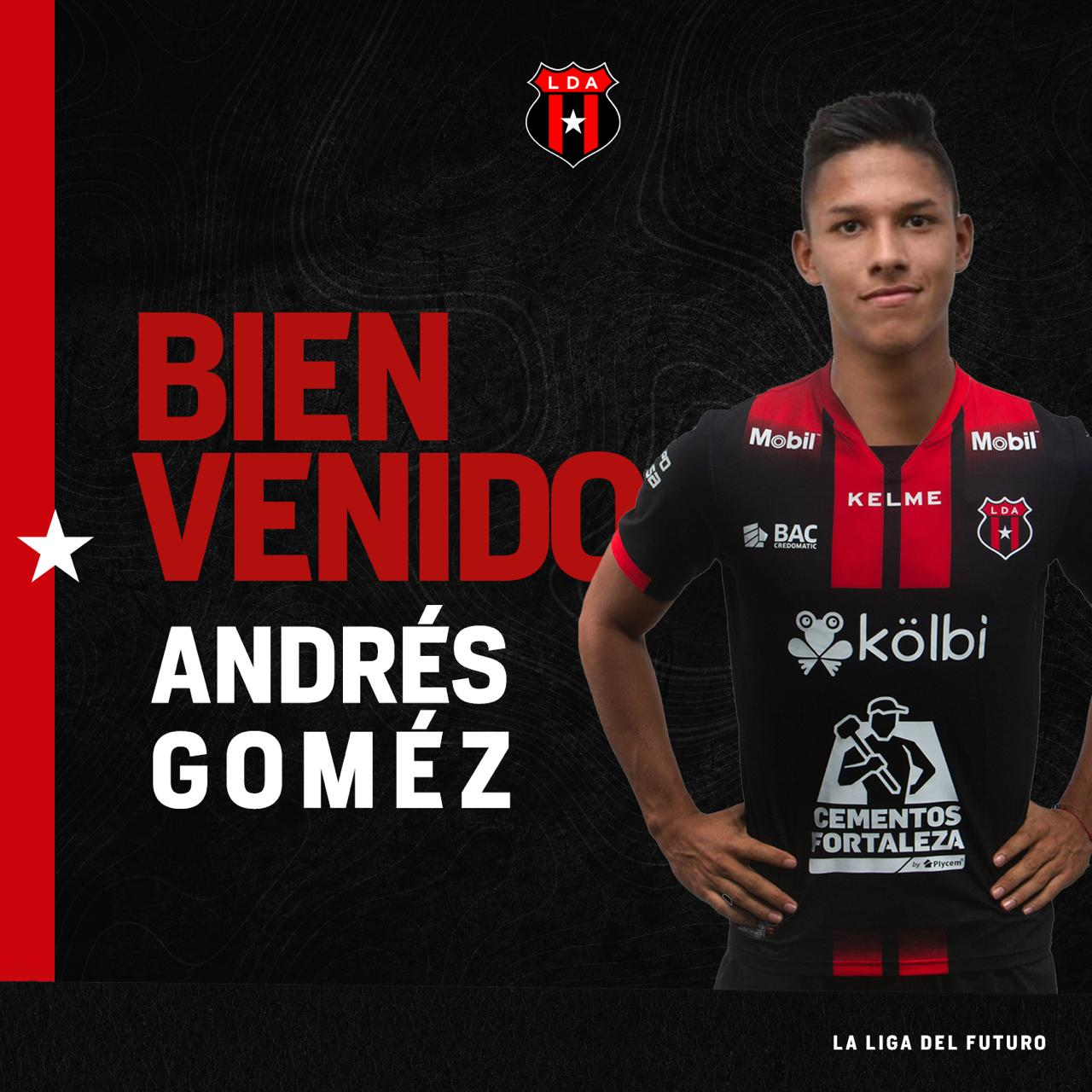 Andrés Gómez no podá debutar con Alajuelense en este torneo por grave lesión en su rodilla.