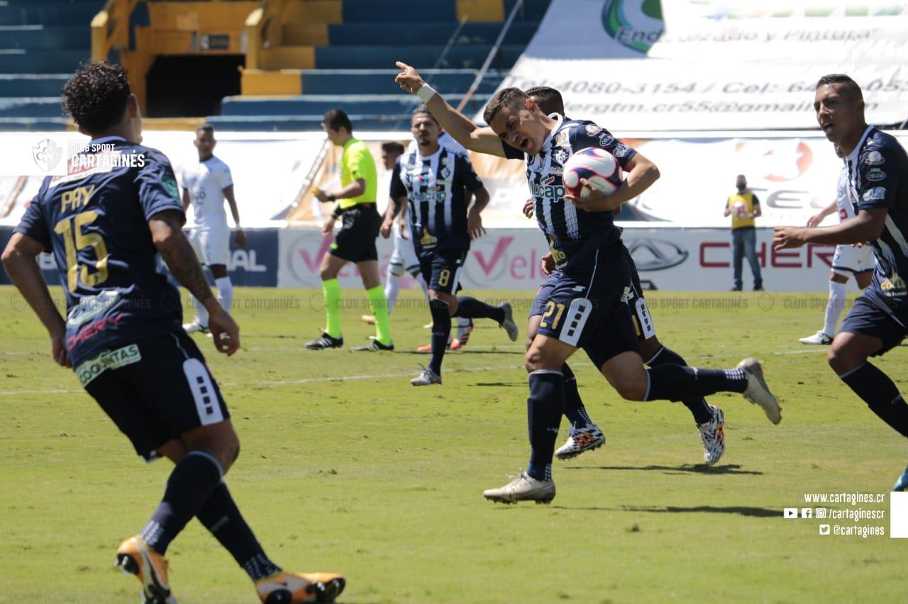 Cartaginés tuvo paciencia y recibió el premio en el último minuto ante un ordenado Guadalupe FC.