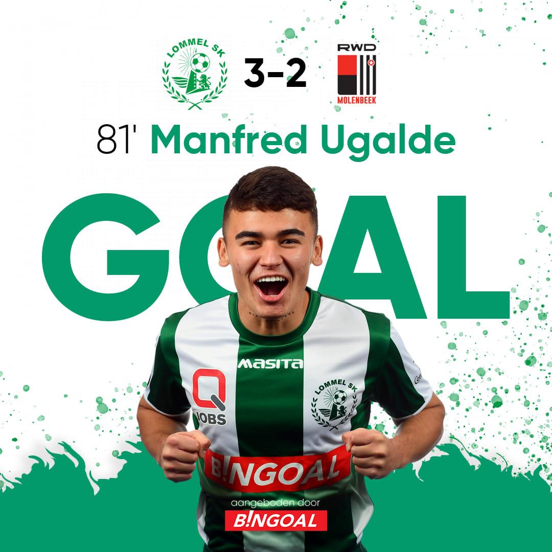 ¡Octavo gol del tico en bélgica! Manfred Ugalde le dio el triunfo al Lommel SK.
