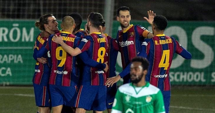 Con sufrimiento, el Barcelona eliminó al Cornellà en tiempos suplementarios por la Copa del Rey.