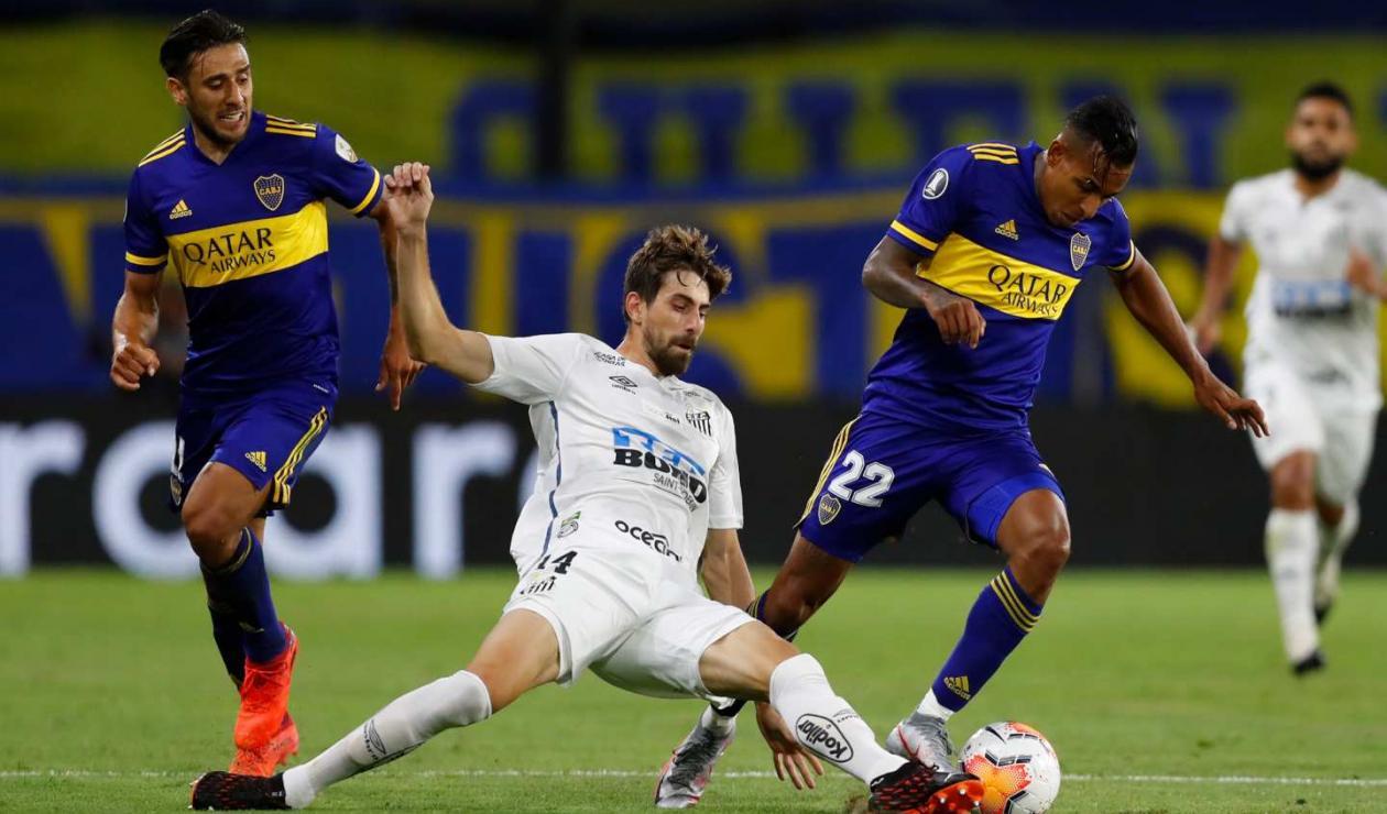 En un flojo partido, Boca y Santos empataron en La Bombonera.