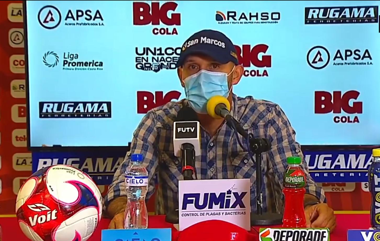 """Luis Marín: """"Si hablamos de la parte futbolística, se ha visto una mejoría""""."""