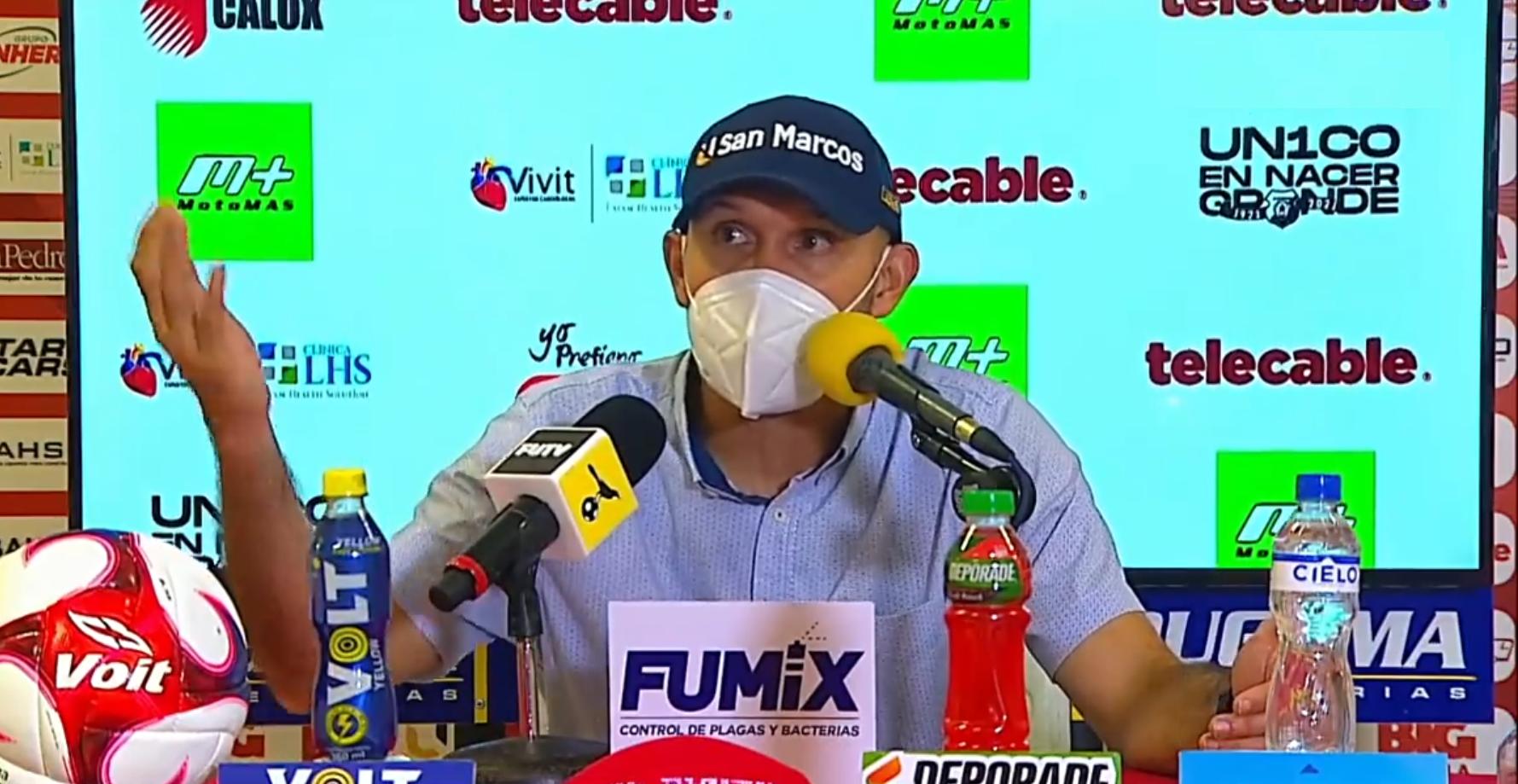 """Luis Marín: """"¿Hay material humano? Sí ¿Hay capacidad? Sí ¿Hay planilla para competir? Sí""""."""