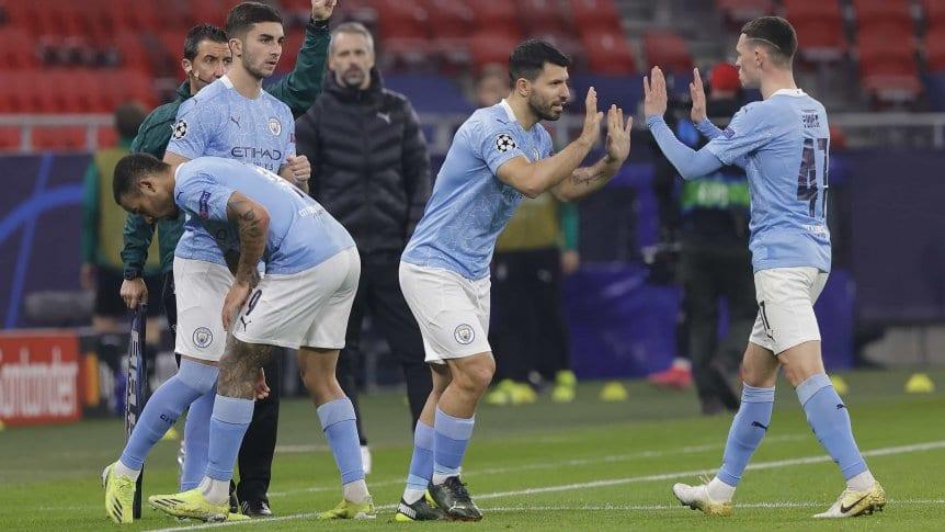 Manchester City derrotó al Borussia Monchengladbach y puso un pie en cuartos.
