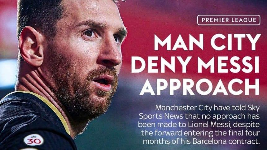 Manchester City negó contactos por Messi.