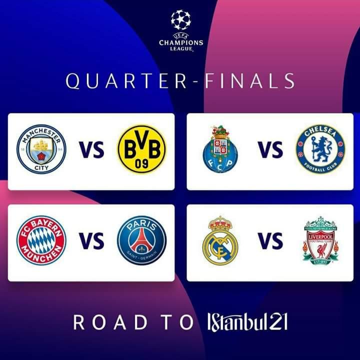 Cruces electrizantes para los cuartos de final de la Champions League.