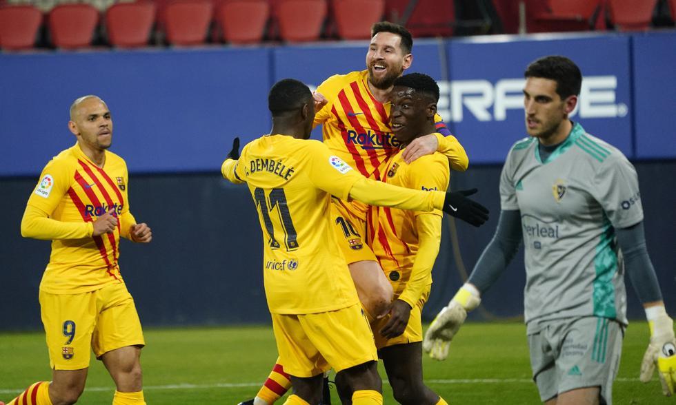 Sin mucho brillo pero con eficacia el Barcelona derrotó al Osasuna.