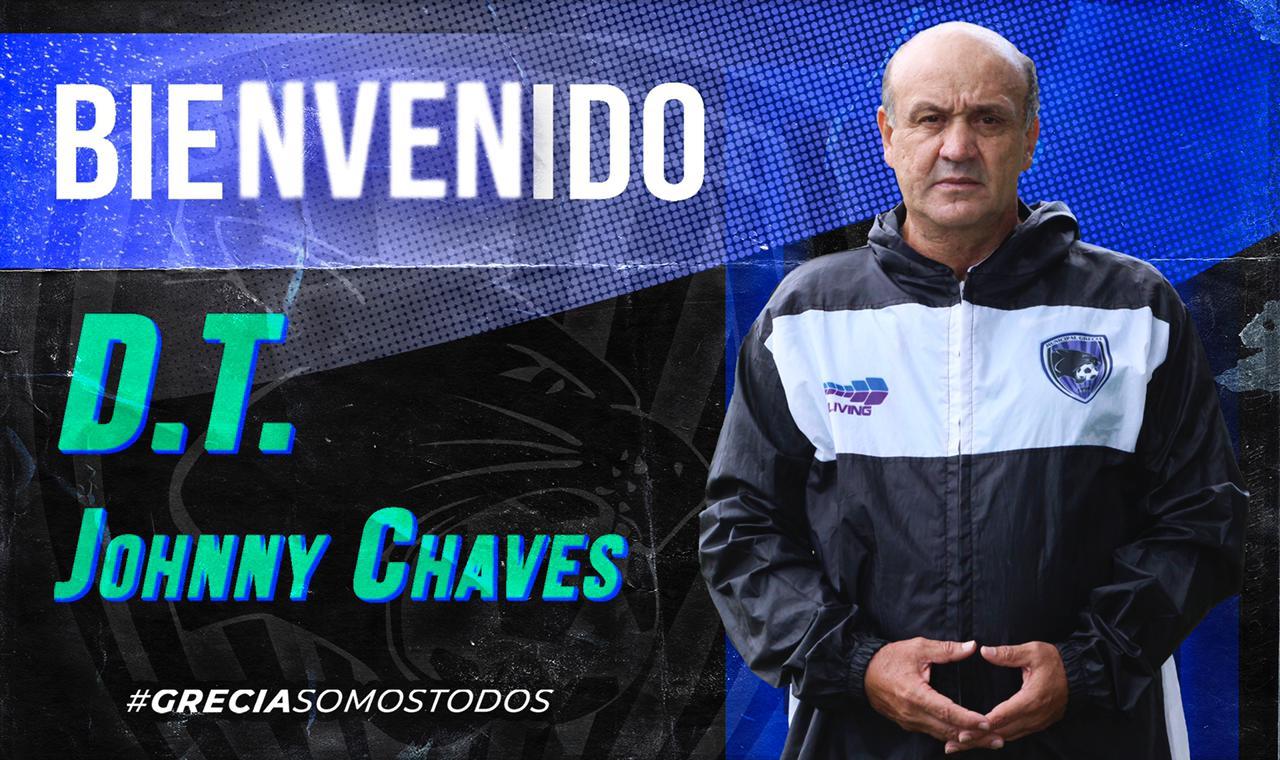 Johnny Chaves es el nuevo técnico del Municipal Grecia.