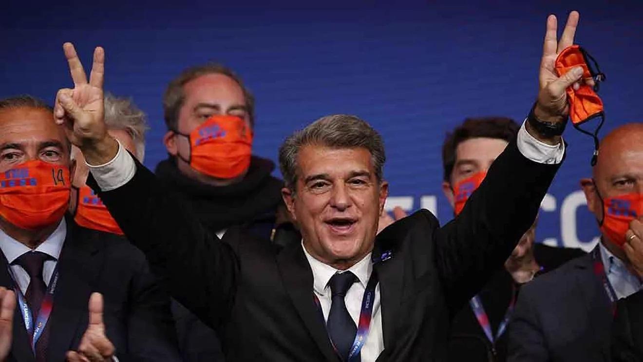 Joan Laporta arrasa en las elecciones y es el nuevo presidente del FC Barcelona.