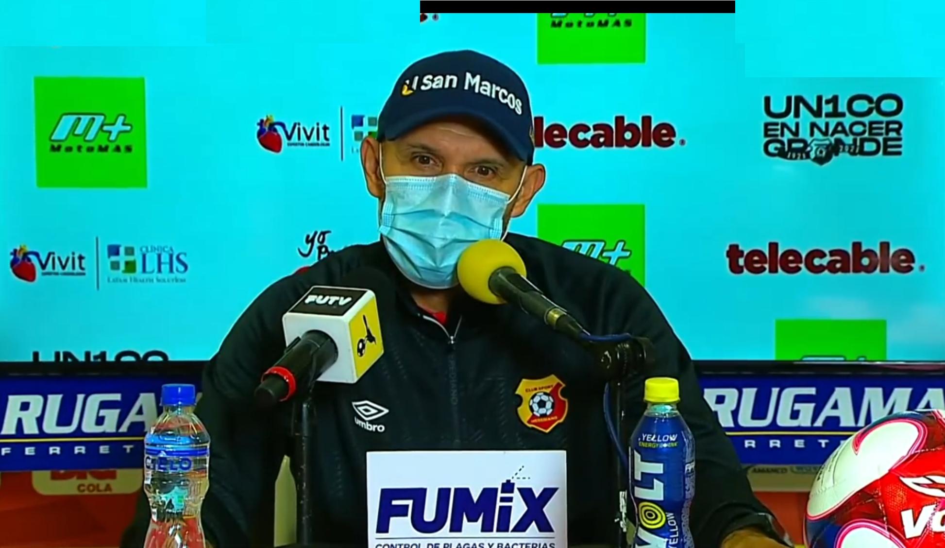 """Luis Marín: """"Hemos perdido una oportunidad de oro de meternos en la clasificación, la dejamos ir""""."""