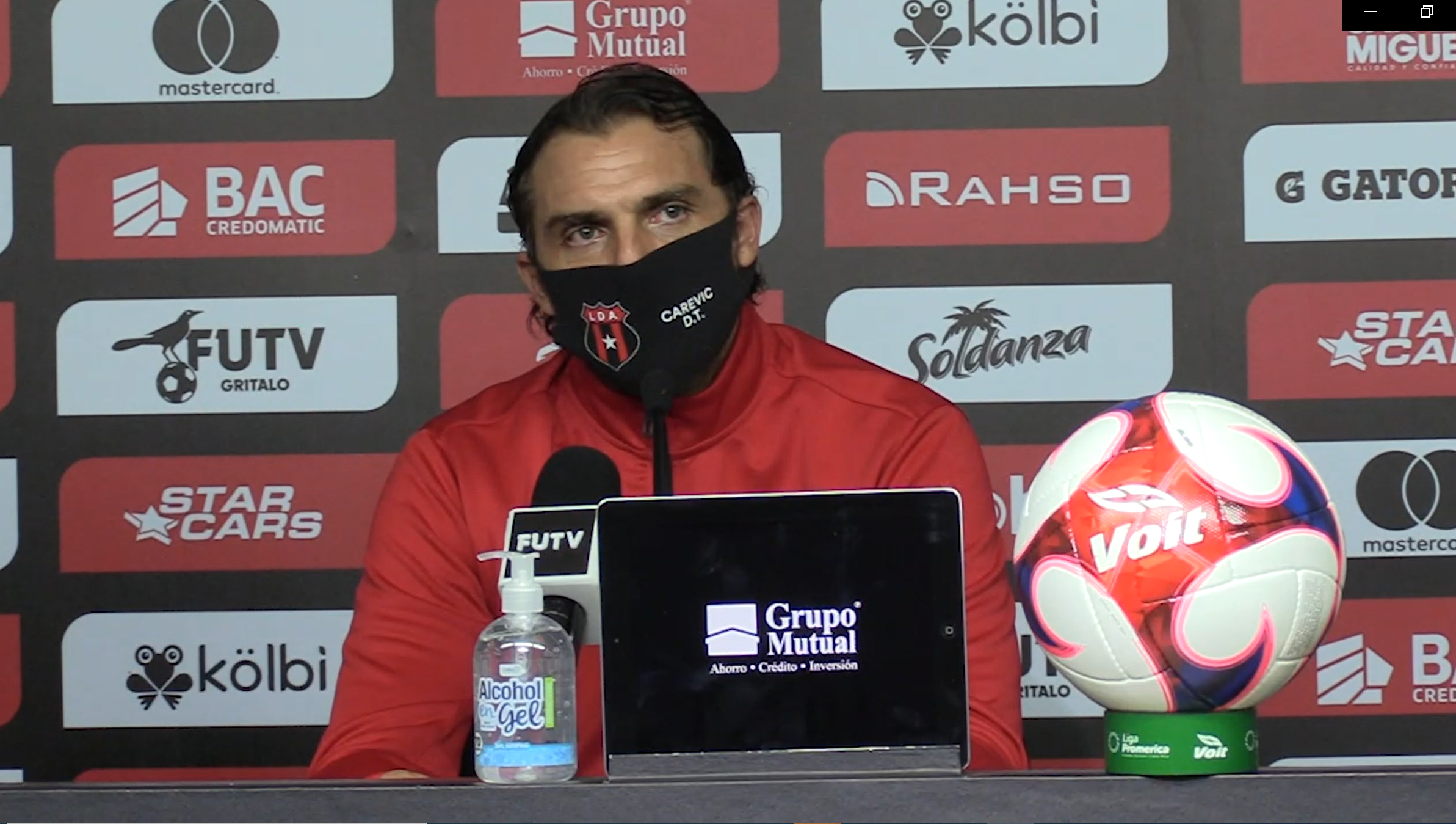 """Andrés Carevic: """"Tenemos que seguir con la atención, concentración e intensidad de querer ganar todos los partidos y todo lo que juguemos""""."""