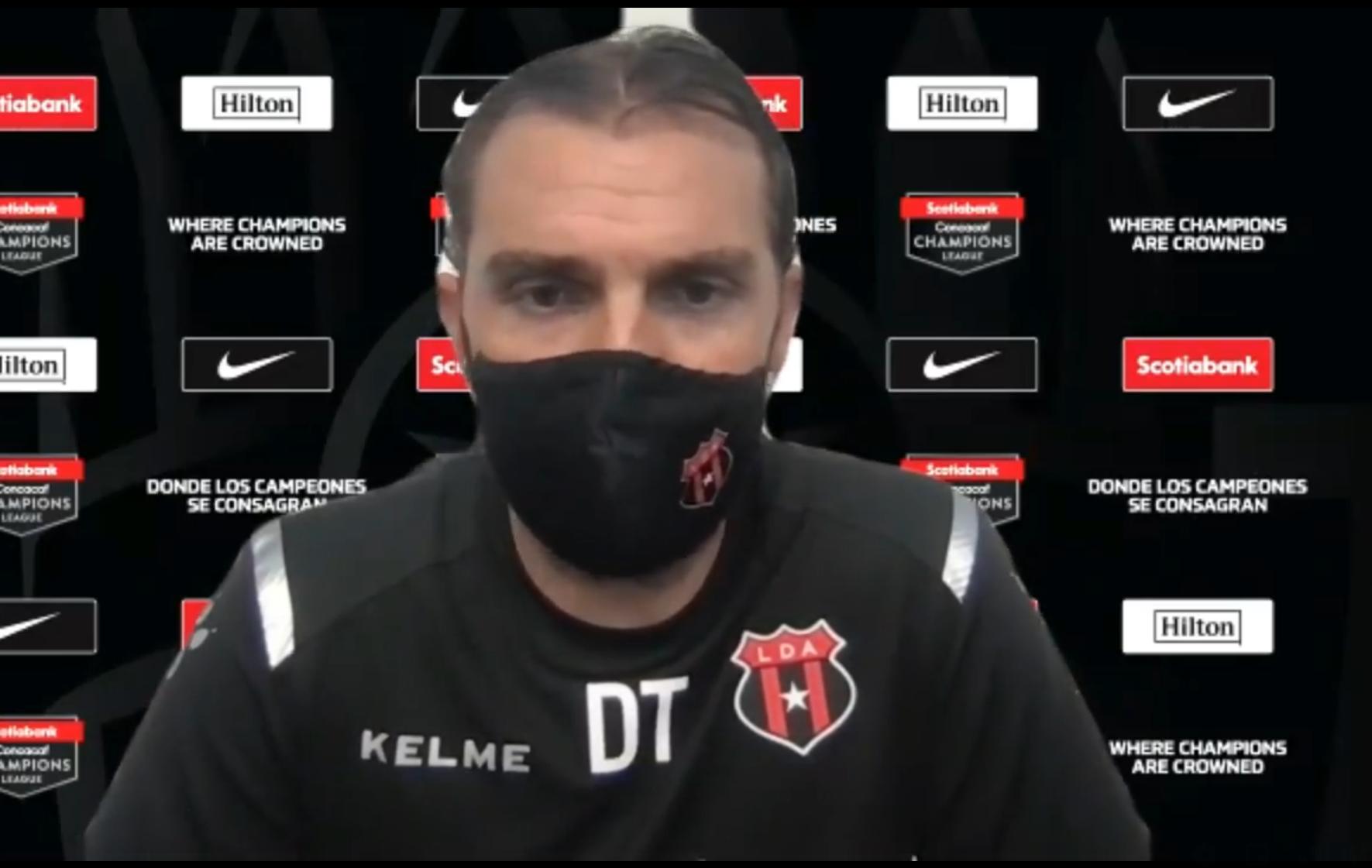 """Andrés Carevic: """"Tuvimos buen funcionamiento, generamos opciones de gol pero faltó concretar""""."""