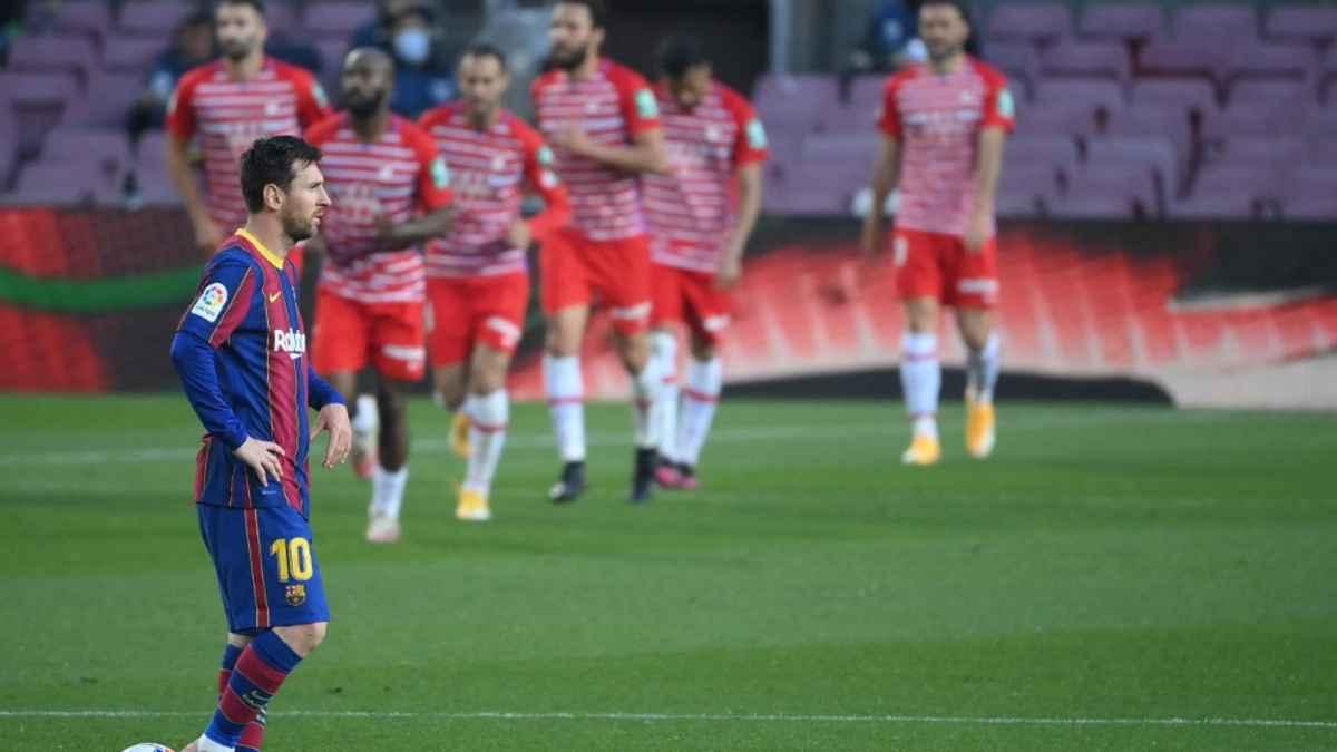 """""""Granadazo"""" en el Camp Nou. LaLiga al rojo vivo."""