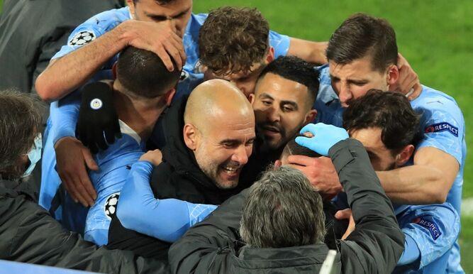 Por primera vez en la era Guardiola, el Manchester City clasifica a semifinales de la Champions.