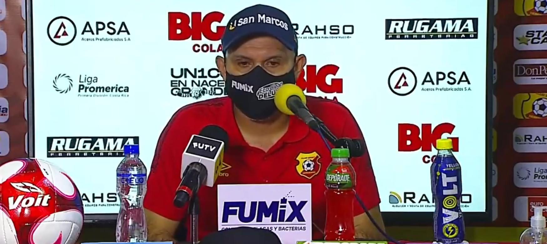 """Luis Marín: """"El rival puso más que nosotros en algo que no era futbolístico, tuvo más deseos, nos ganaron en querer más.""""."""