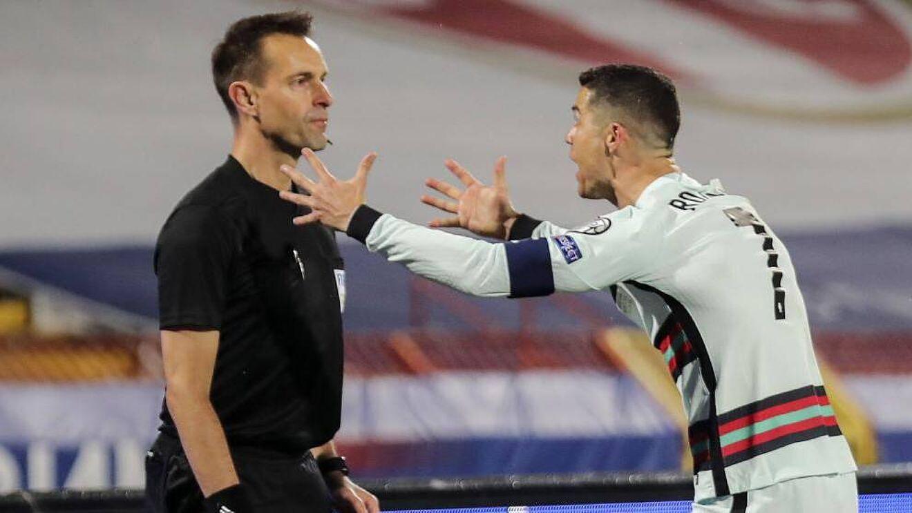 La UEFA descartó para la Eurocopa al línea que no validó un gol a Cristiano Ronaldo.