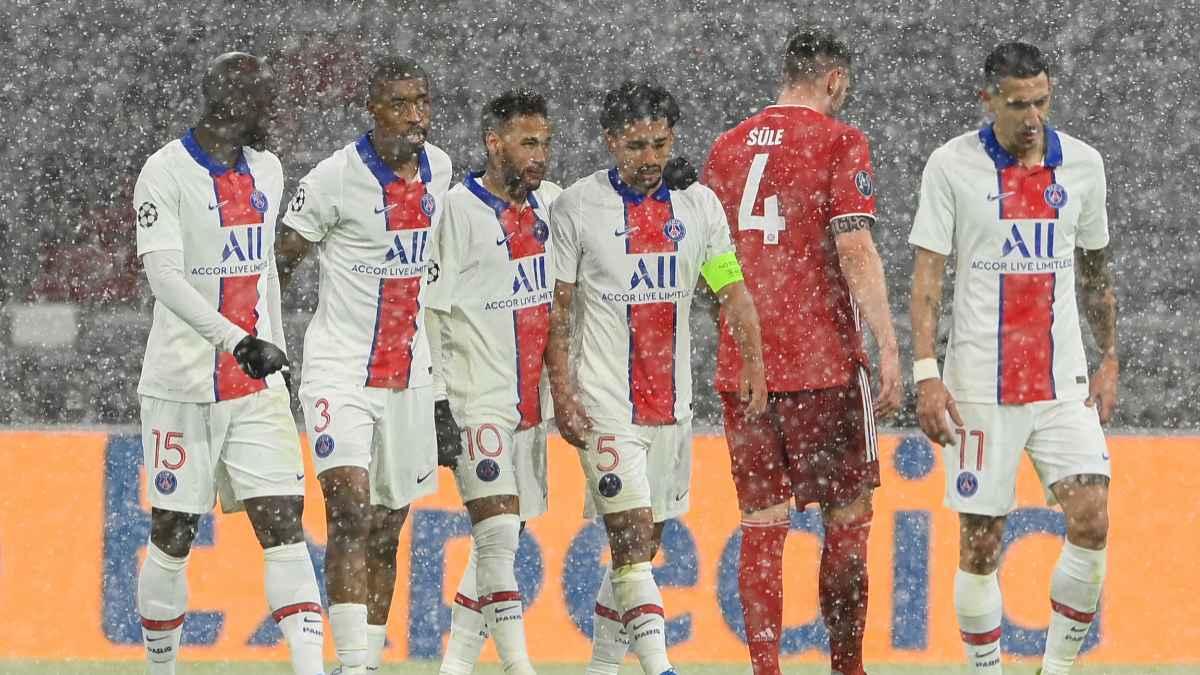 Bajo la nieve de Alemania el PSG se impuso al Bayern Múnich.