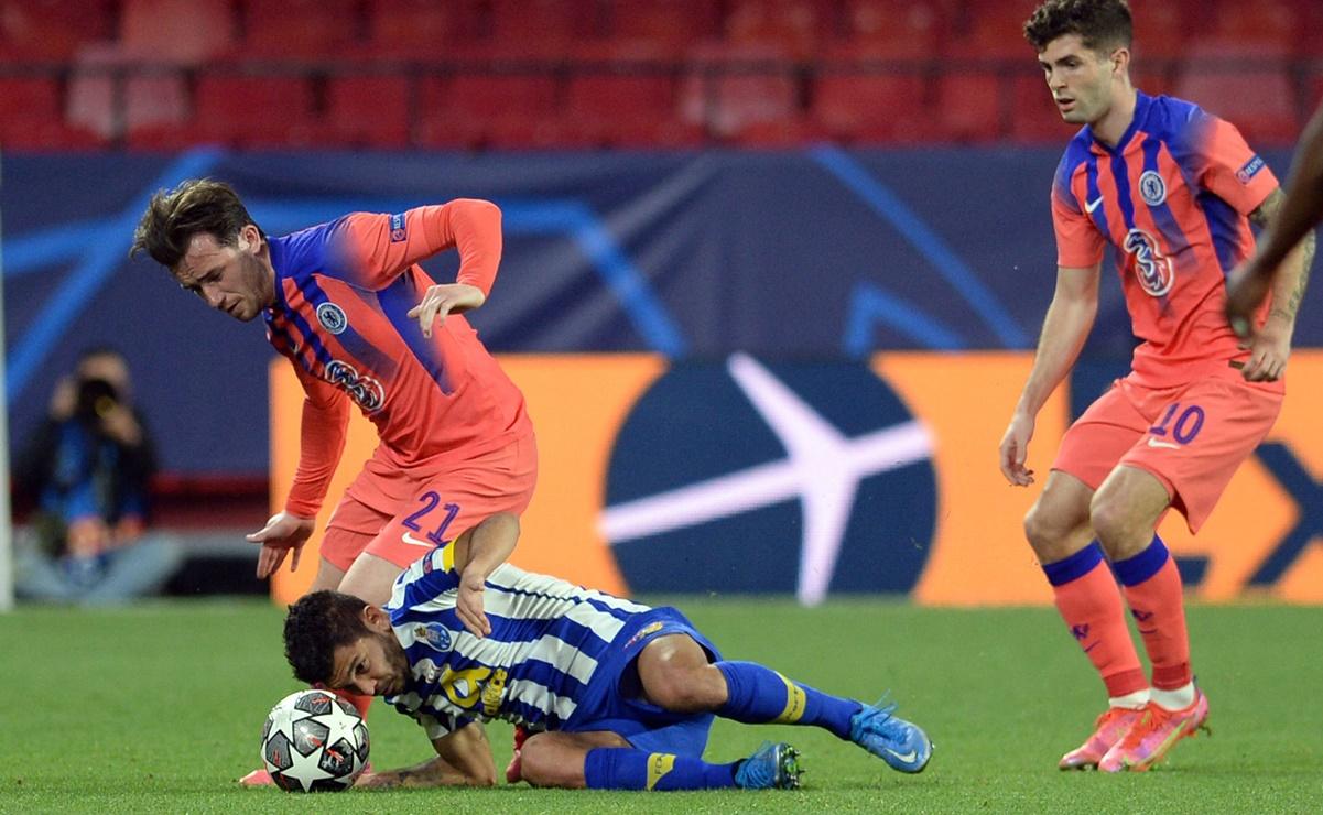 Chelsea derrotó al Porto y acaricia los cuartos de final de la Champions.