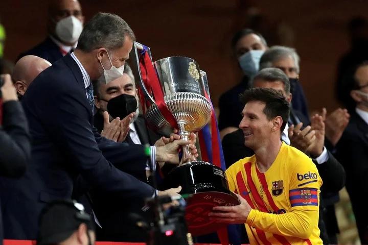 ¡Se puso la corona! Barcelona goleó al Athletic y conquistó la Copa del Rey.