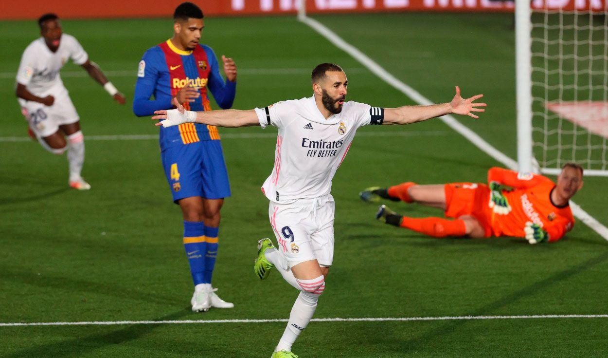 Real Madrid derrota al Barcelona y asume provisionalmente el liderato en España.